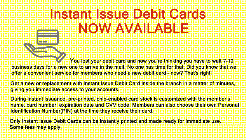 Debit cards coming soon